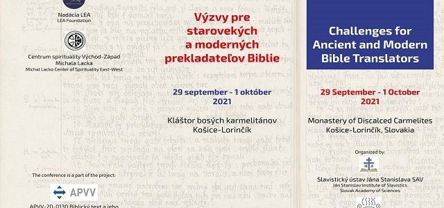 POZVÁNKA: Konferencia k prekladu biblických textov